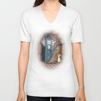 narnia V-neck T-shirts featuring Bigger on the Inside! by Billy Allison