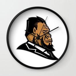 Well-Groomed Gorilla Mascot Wall Clock