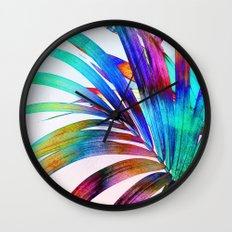 Multicolor Palm Leaf Wall Clock
