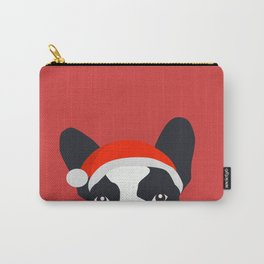 Santa Frenchie Carry-All Pouch