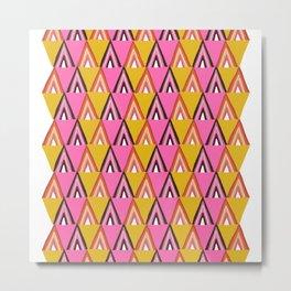 arcadia, mid-century inspired pattern Metal Print