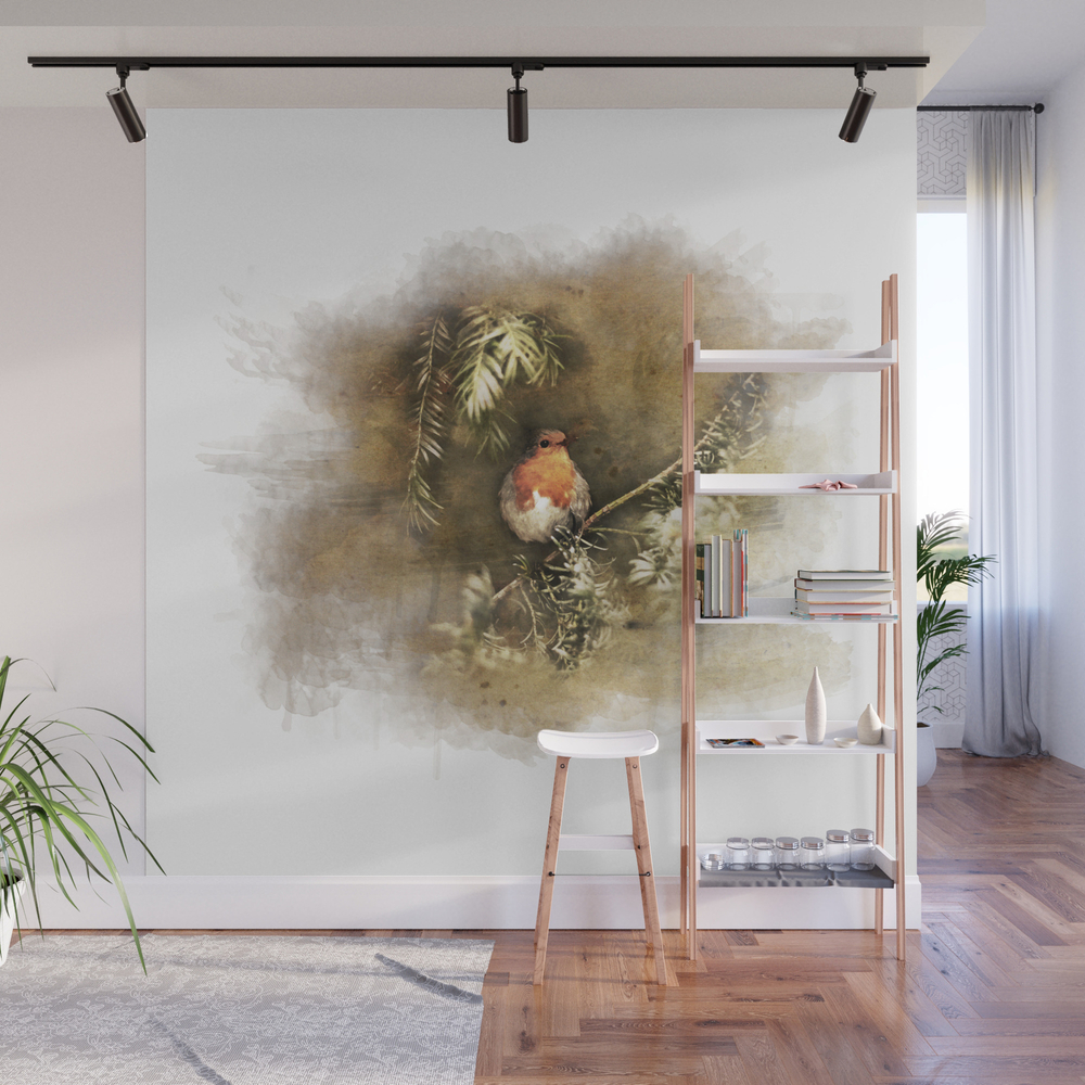 Robin The Redbreast Wall Mural by Weltenraser (WMP8489565) photo