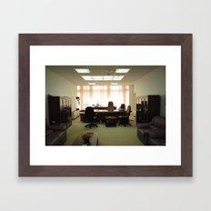 Quiet clash Framed Art Print