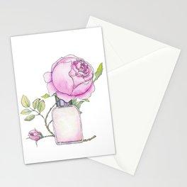 Fragrance bottle with rose flower Stationery Cards