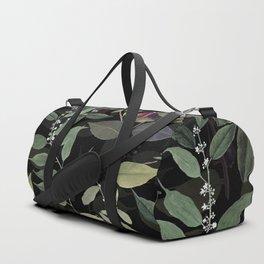 Leaves in Dark Duffle Bag