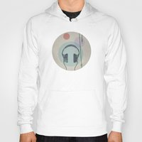 headphones Hoodies featuring headphones by avoid peril