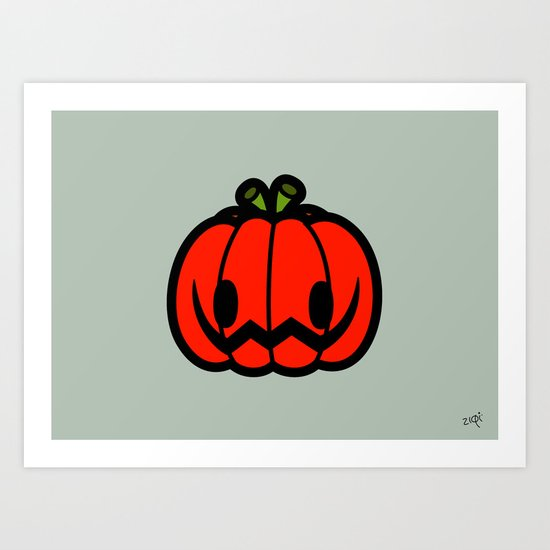 Halloween series - Halloween pumpkin Art Print