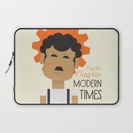 "Charlie Chaplin ""Modern Times"" movie poster, fine Art print, classic film with Paulette Goddard Laptop Sleeve"