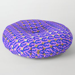 Modius Loop Blue/Lavender on Gold Floor Pillow