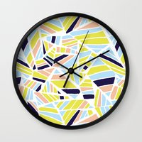 dave grohl Wall Clocks featuring Dave by Little Things Studio