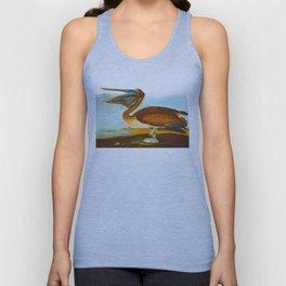 Brown Pelican Illustration Unisex Tank Top