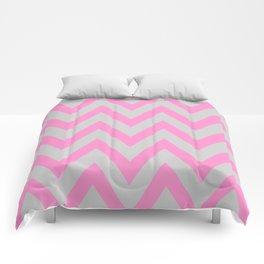Pink & Gray Chevron Comforters