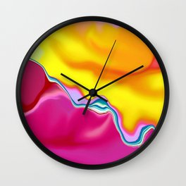 Gardenia Abstract Wall Clock