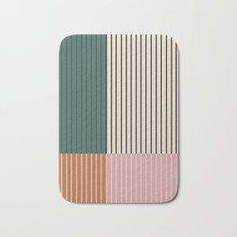 Color Block Lines V Bath Mat