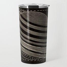 Black Saturn Travel Mug
