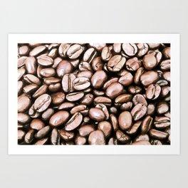 roasted coffee beans texture acrstd Art Print
