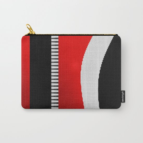 black and white meets red version 16 Carry-All Pouch