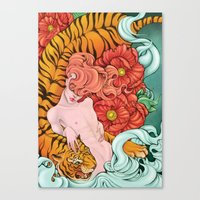 fierce Canvas Prints featuring Fierce by Kate Mana