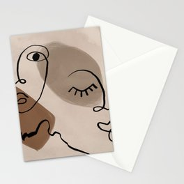 Expressive Faces Stationery Cards