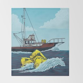 Jaws: Orca Illustration Throw Blanket