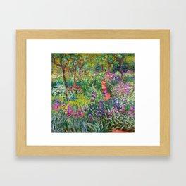 Claude Monet - The Iris Garden At Giverny Framed Art Print