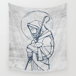 Jesus Christ Good Shepherd Wall Tapestry