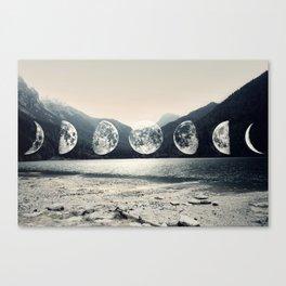 Moonlight Mountains Canvas Print