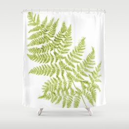 Fresh Fern Modern Botanical Shower Curtain