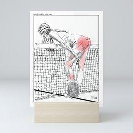 Jeu set et smack Mini Art Print