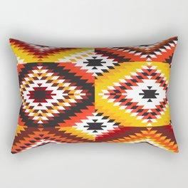 Colorful patchwork mosaic, oriental kilim rug Rectangular Pillow