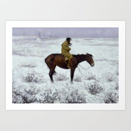 "Frederic Remington Western Art ""The Herd Boy"" Art Print"