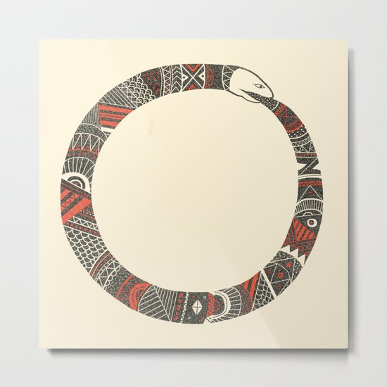 Snake Sleeve No.2 Metal Print