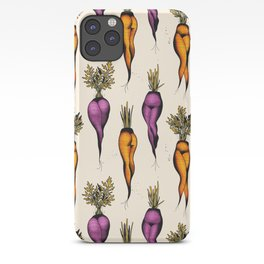Sexy carrots botanical chart tattoo flash iPhone Case