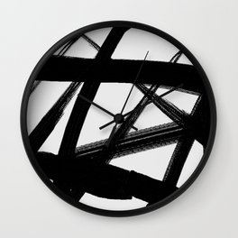 A Shadow Beam - Abstract Paint Wall Clock