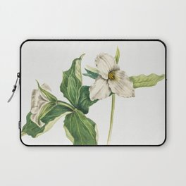 Wake-Robin (Trillium grandiflorum) (1918) by Mary Vaux Walcott Laptop Sleeve