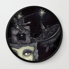 Ghost Light Wall Clock