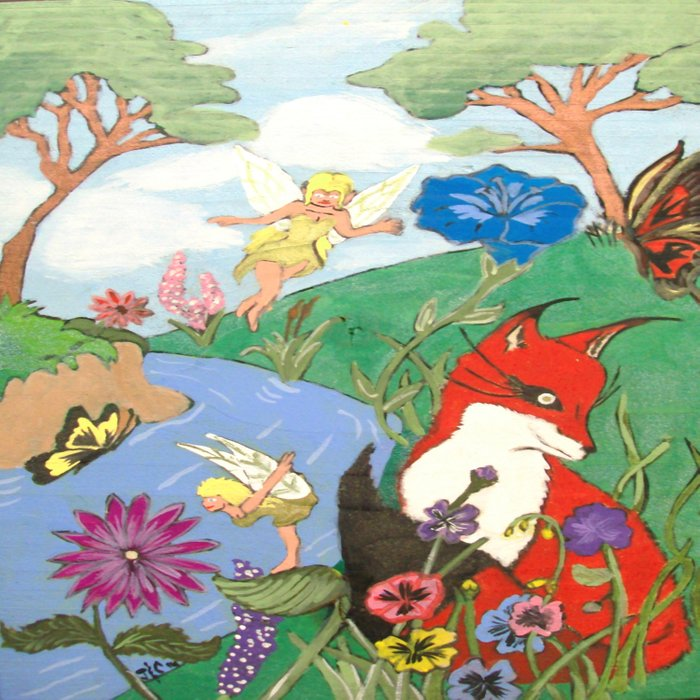 Fox And The Fairy Duvet Cover