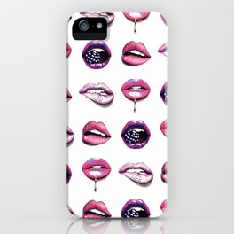 Sexy Pink lips pattern iPhone Case