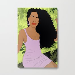 Black Girl Wall Art, Afro Art, Girl Power Print, Feminist Poster, Woman Poster, Strong Female Art, Empowered Women Print, Feminist Art Print Metal Print