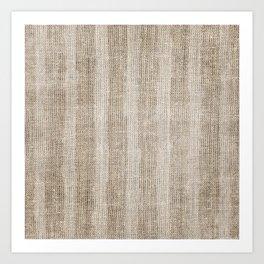Striped burlap (Hessian series 3 of 3) Art Print