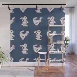 Scandi Knit Ornaments pattern 14 Wall Mural