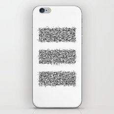 tri white iPhone & iPod Skin