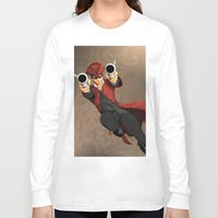 dick Long Sleeve T-shirts featuring Dick Turpin by Eco Comics