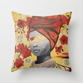 """Color Blind Series """"Uadilifu"""" Throw Pillow"""