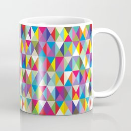Mid Century Modern Colorful Triangle Print Coffee Mug