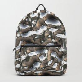 Liquid silver metal Backpack