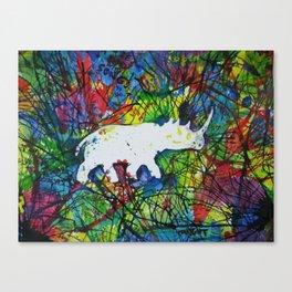 rhinocerish Canvas Print