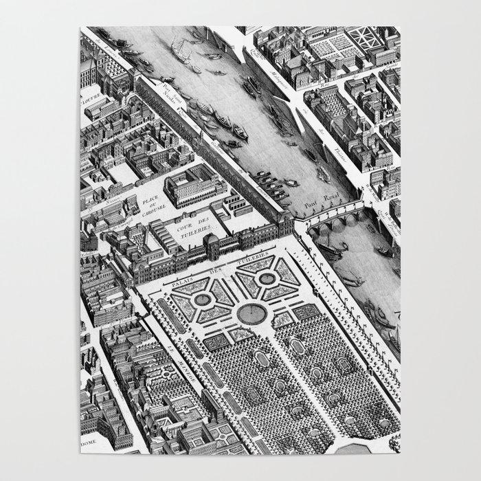 Map of Paris 1793 Poster