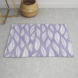 Lavender Leaf Print - Small Pattern Rug