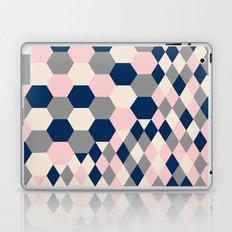 Honeycomb Blush and Grey Laptop & iPad Skin